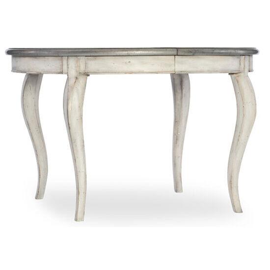 """Arabella 48"""" Round Leg Table W/1-20"""" Leaf in Cream"""