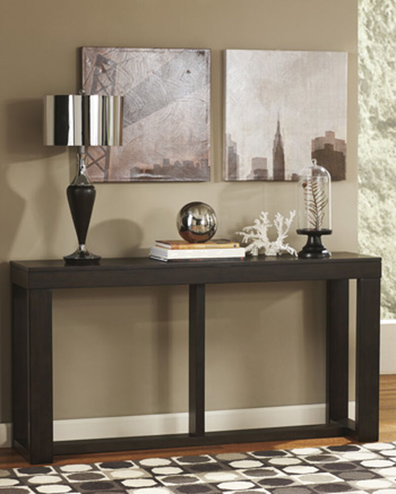 Rectangular Contemporary Sofa Table In Dark Brown Mathis Brothers Furniture