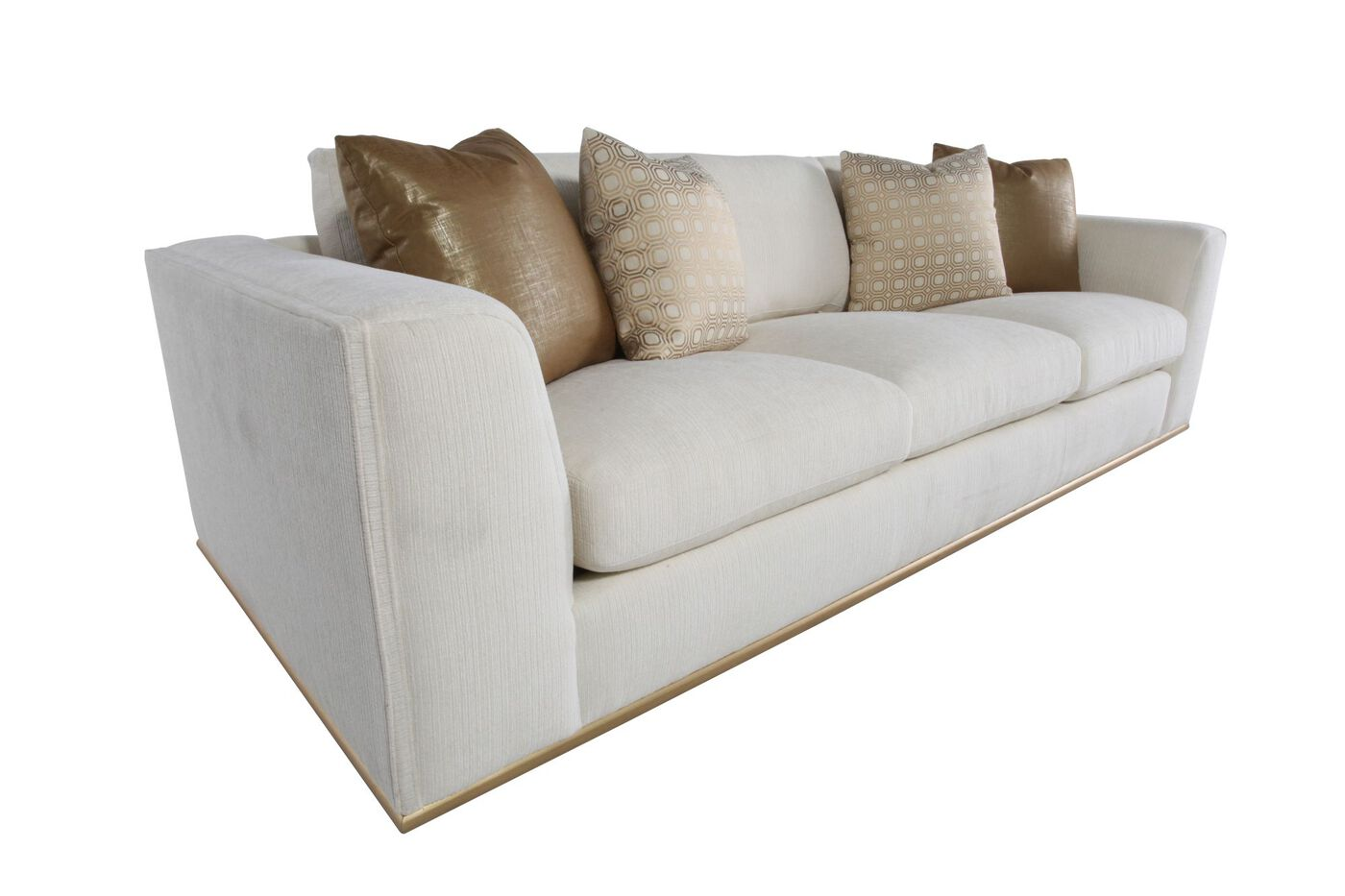 Contemporary Low Profile 107 5 Sofa In Cream Mathis Brothers Furniture