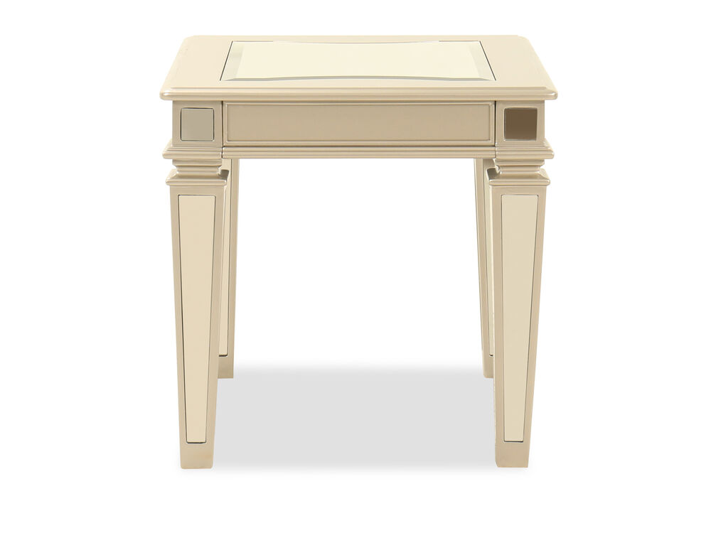 Rectangular Contemporary End Table in Silver