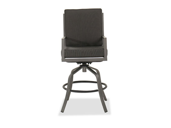 Aluminum Swivel Bar Stool in Gray