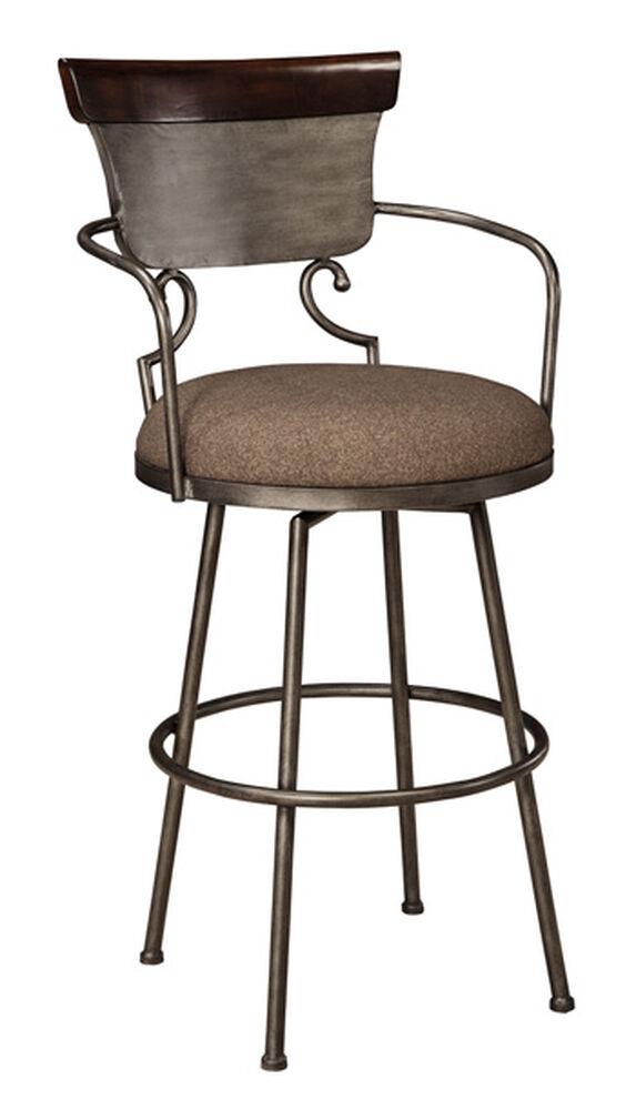 "Casual 45"" Swivel Bar Stool in Brush Glazed Silver"