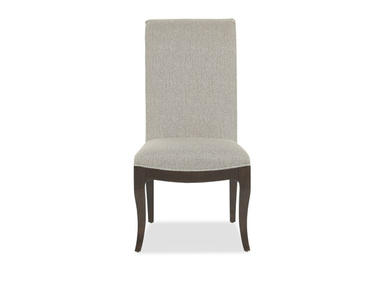 "Nailhead Accented 21.5"" Side Chair in Beige"