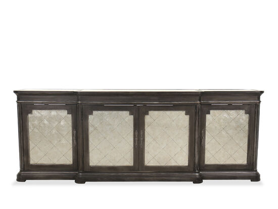 Traditional Four-Door Credenza in Peppercorn