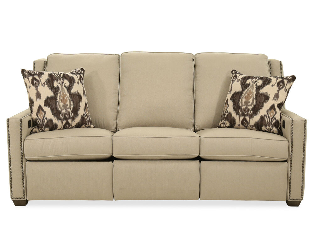 Nailhead Accented Transitional 82 Quot Power Reclining Sofa In