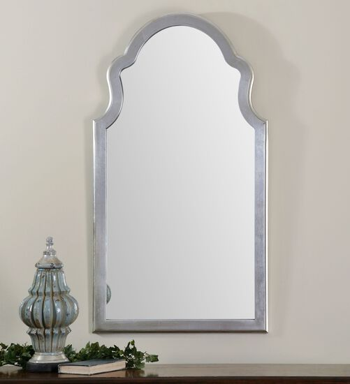 "48"" Arched Mirrorin Antique Silver Leaf"