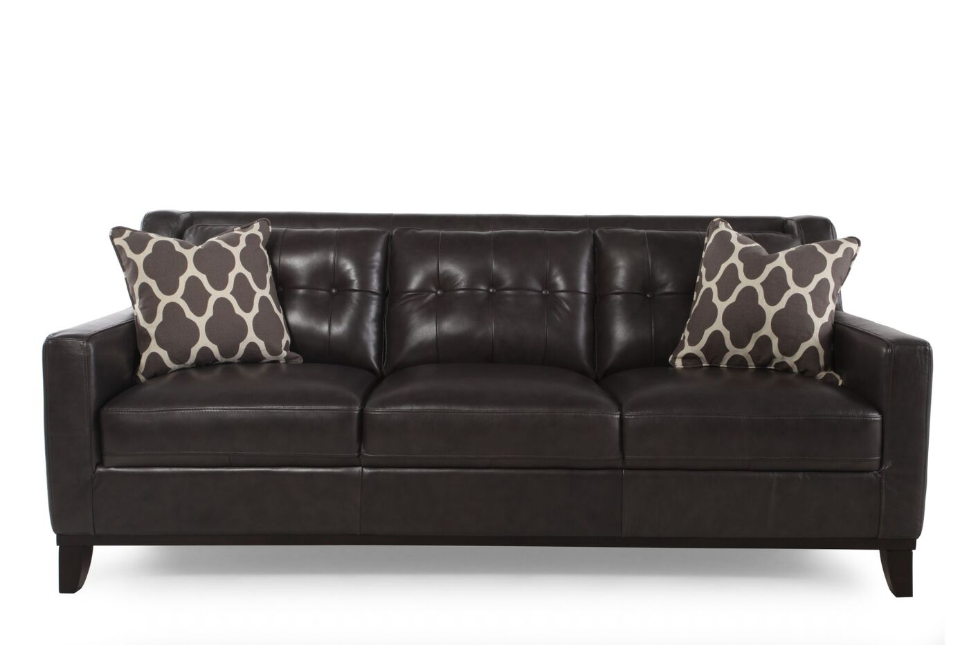boulevard grey leather sofa mathis brothers furniture