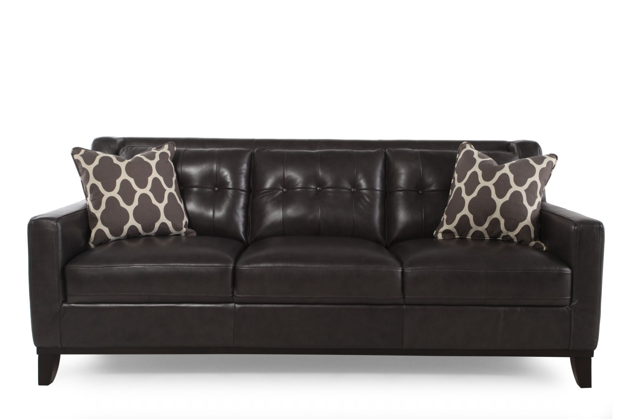 Boulevard Grey Leather Sofa Part 66