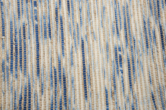 """Casual/Flat weave Hand-Woven 18"""" x 18"""" Square Rug in Blue"""