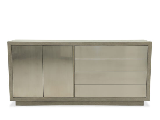 "Contemporary 78"" Rectangular Buffet in Gray"