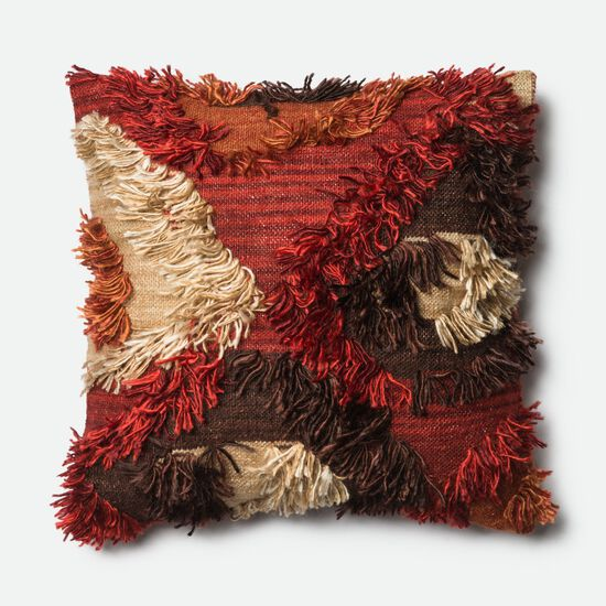 """Contemporary 22""""x22"""" Cover w/Poly Pillow in Spice"""