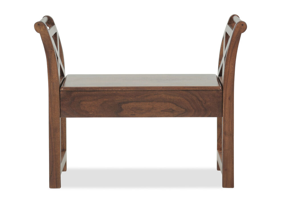 "Modern 35"" Accent Bench in Brown"