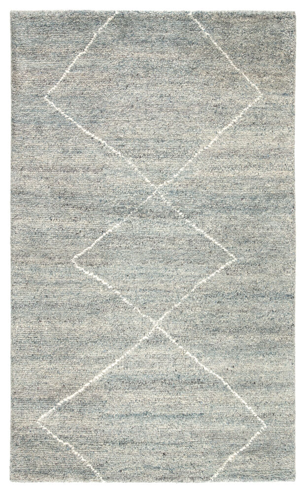 Renee Hand Knotted Geometric Light Blue Ivory Area Rug 5 X8 Mathis Brothers Furniture