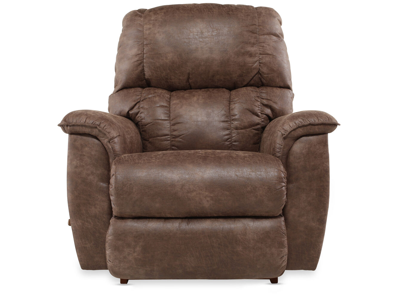 Contemporary 38 Quot Rocker Recliner In Dark Brown Mathis