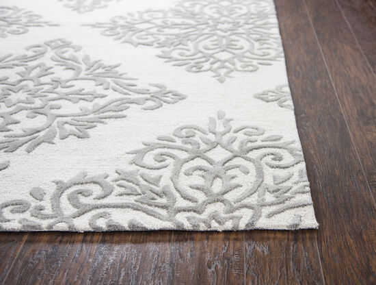 Transitional Hand-Tufted 5 x 8 Rectangle Rug in Natural
