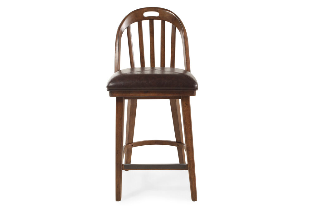 """Traditional 45"""" Armless Bar Stool in Brown"""