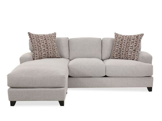 Casual Two-Piece Sectional in Gray