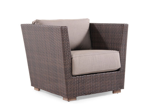 Weather-Resistant Aluminum Beach Lounge Chair in Brown