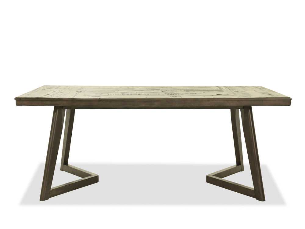 """Contemporary 76"""" Rectangular Dining Table in Gray"""
