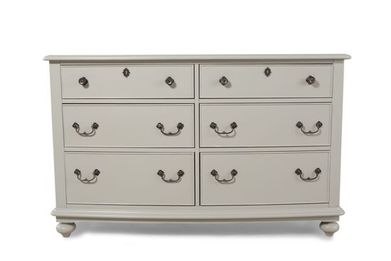 Six-Drawer Youth Dresser in Morning Mist Grey