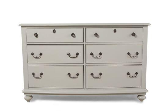 Six-Drawer Youth Dresser in Morning Mist Grey