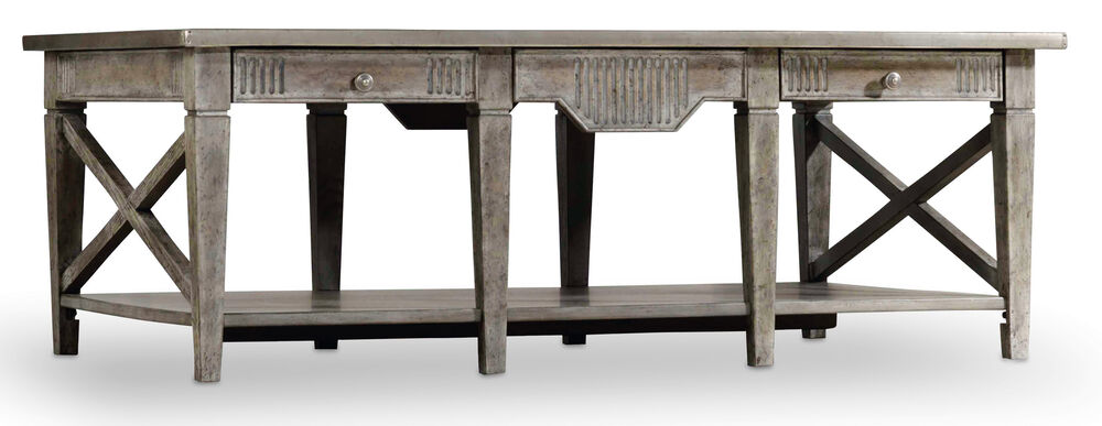 True Vintage Rectangle Cocktail Table in Light Wood