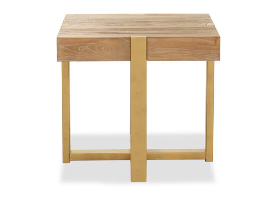 Casual Square End Table in Brown