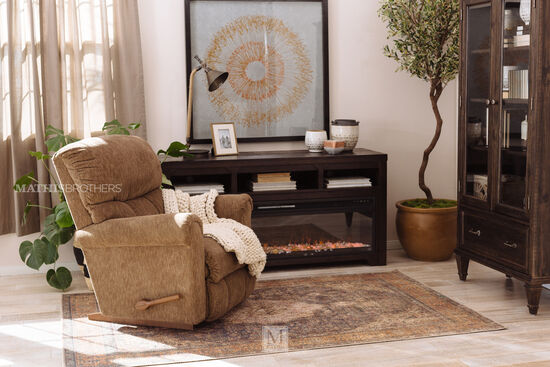 """17"""" Contemporary Remote Controlled Fireplace Insert in Black"""