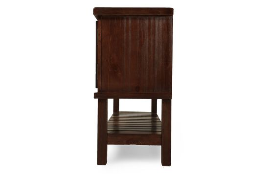 Xylophone Shelf Casual Console Table in Medium Brown