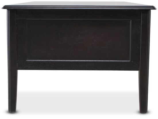 Two-Drawer Contemporary Cocktail Tablein Black