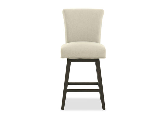 Casual Armless Bar Stool in Beige