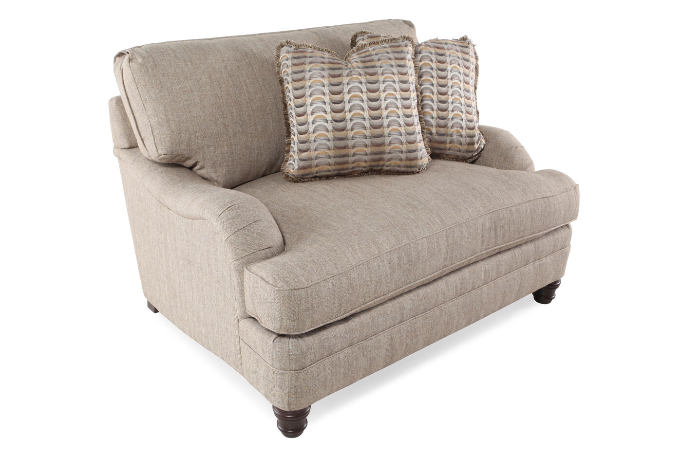 English Arm European Clic 54 5 Chair And A Half In Sandy Brown
