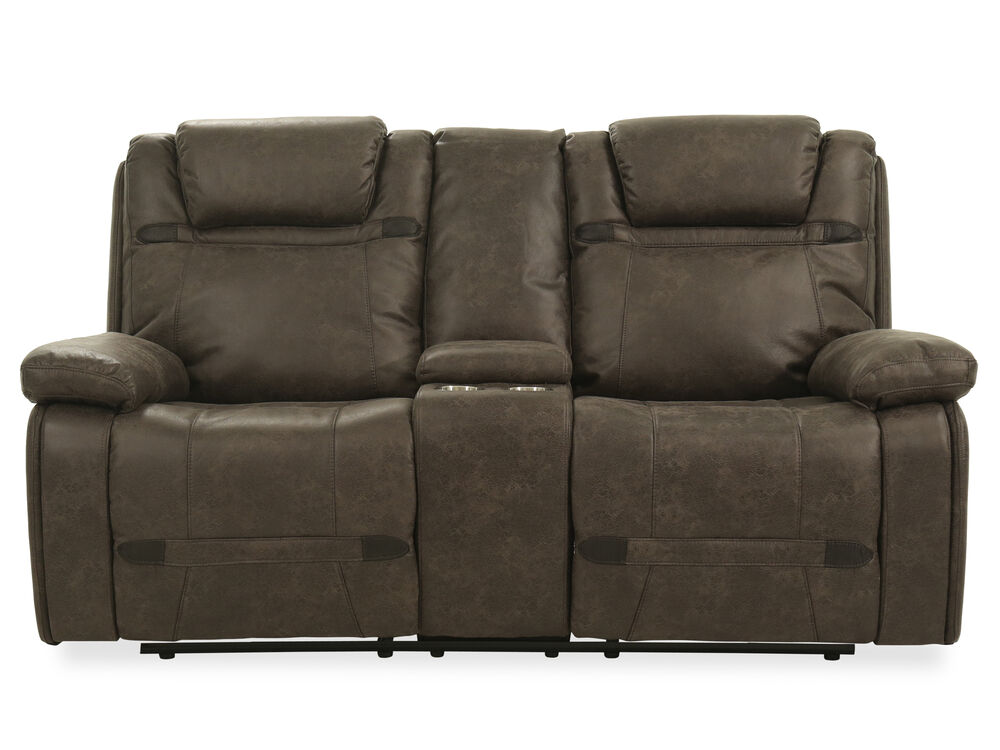 Power Reclining Casual 76 Quot Loveseat In Grey Mathis