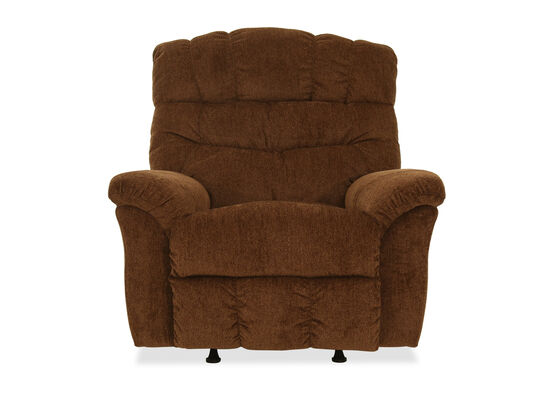 "46"" Transitional Rocker Recliner in Brown"