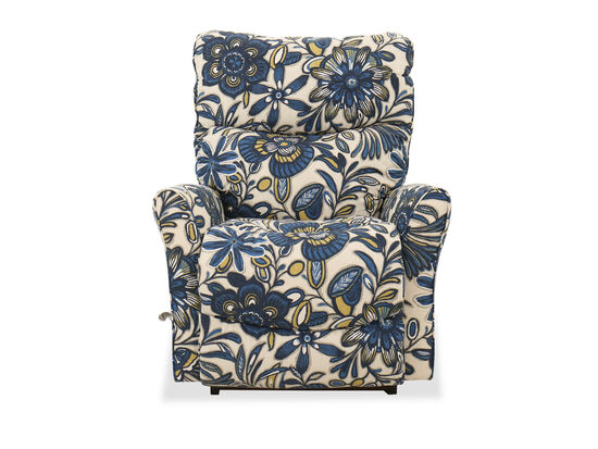 "Floral-Patterned 34"" Rocker Recliner"