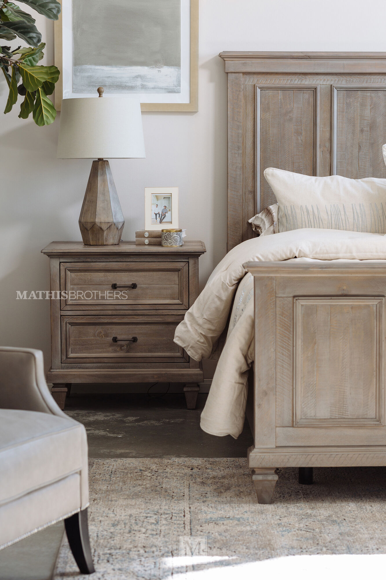 29 transitional two drawer nightstand in dovetail