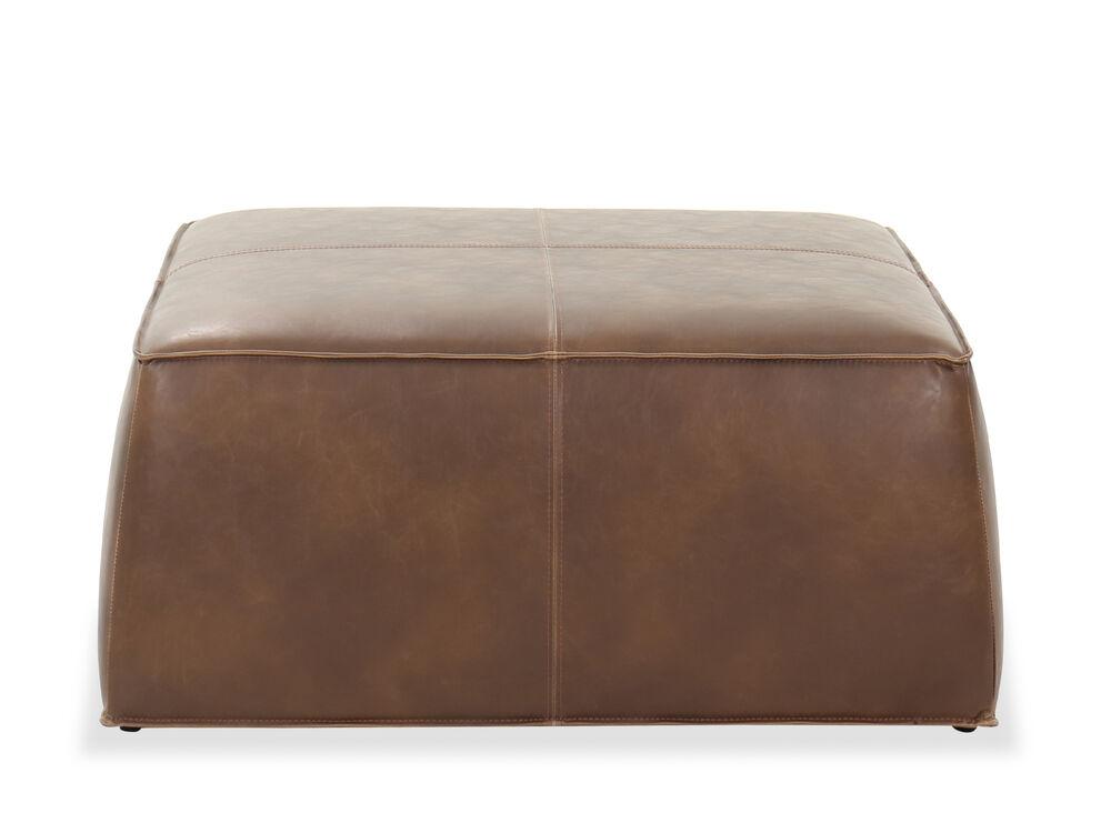 """Casual 36"""" Square Ottoman in Brown"""