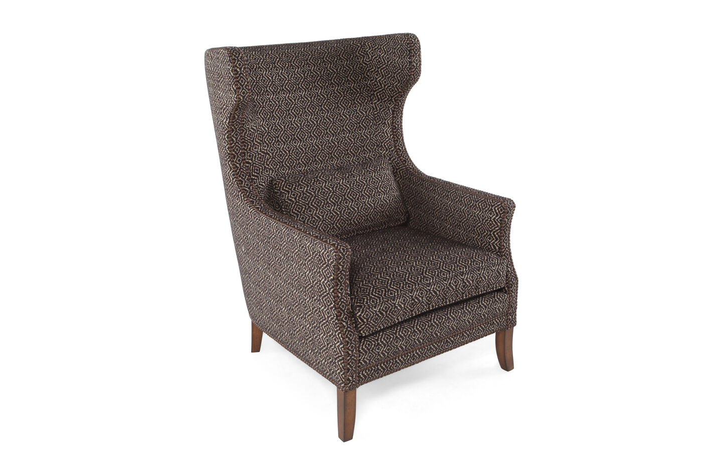 geometric patterned european classic 31 chair in cocoa mathis brothers furniture. Black Bedroom Furniture Sets. Home Design Ideas