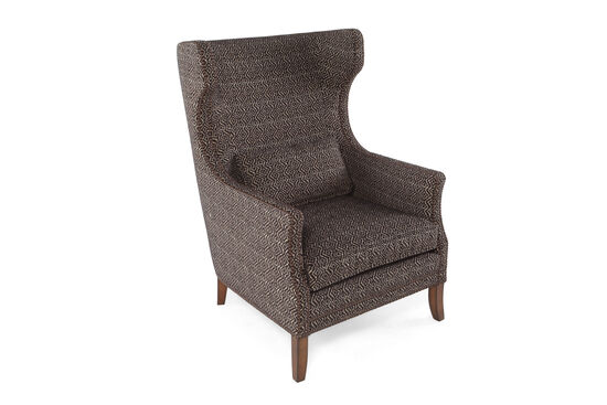 "Geometric Patterned European Classic 31"" Chair in Cocoa"