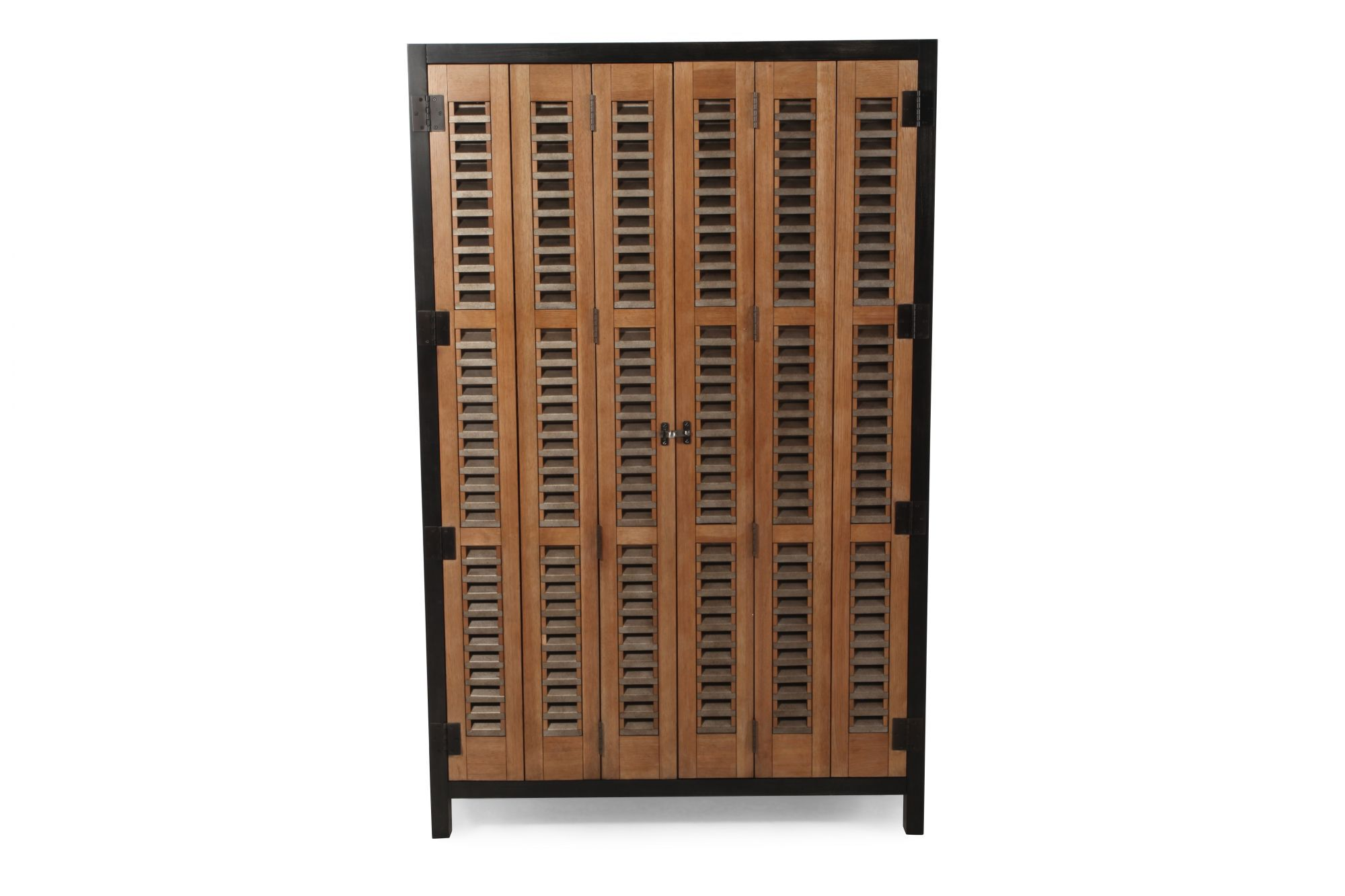 Images Tri Fold Door Libations Locker In Bisque