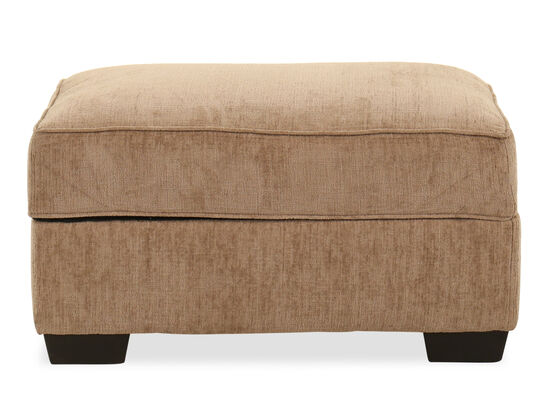 Transitional Rectangular Ottoman in Brown