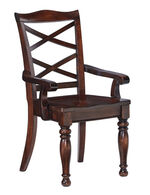 "X-Back 20"" Dining Room Arm Chair in Rustic Brown"