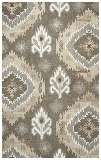 Transitional Hand-Tufted 3'  x  5' Rectangle Rug in Brown