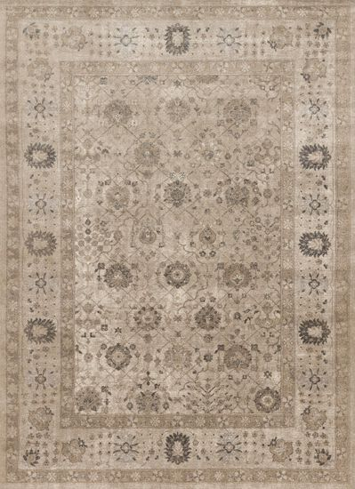"Transitional 5'-3""x7'-6"" Rug in Taupe/Taupe"
