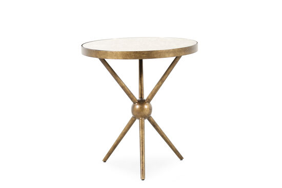 Transitional Tripod Leg Round End Table in Antique Bronze