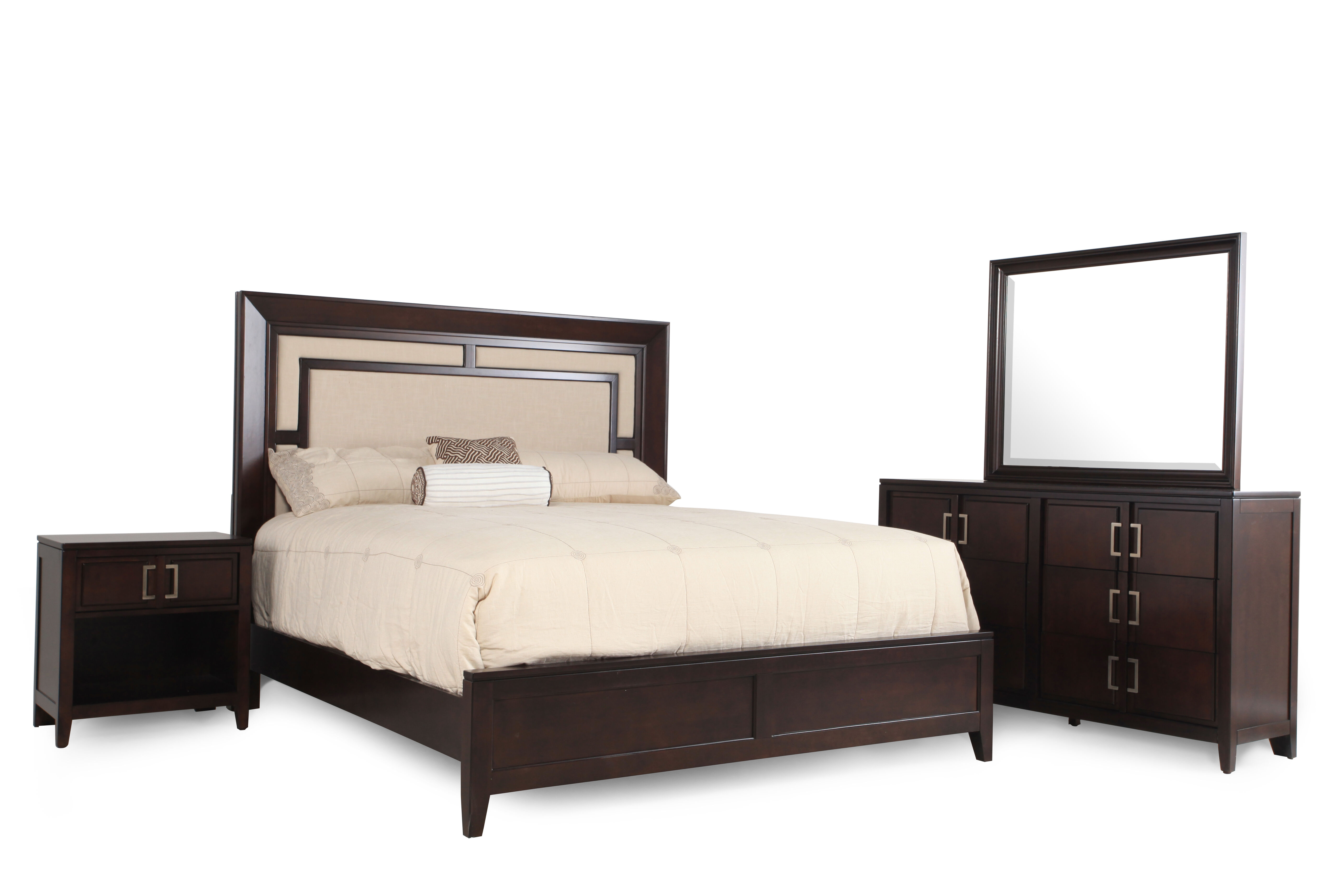 Images Four Piece Transitional Bedroom Set In Mocha Four Piece Transitional  Bedroom Set In Mocha