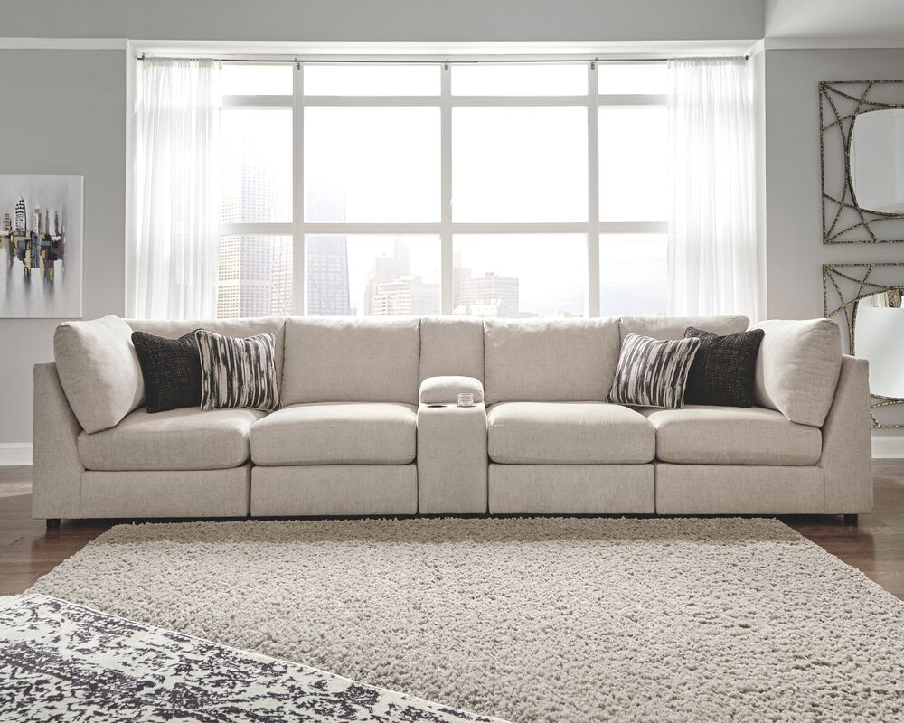 Kellway Bisque 9-Piece Sectional  Mathis Brothers Furniture