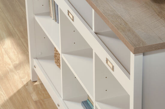 Traditional Adjustable Shelf Credenza in Soft White