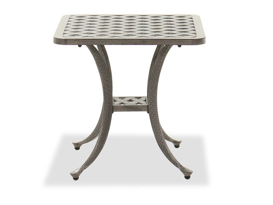 Casual Patio End Table in Gray