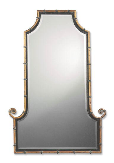 42'' Arch Mirror in Antiqued Gold